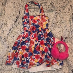 Girls Size 8 Floral Sundress With Sparkles